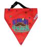 LANA Paws The Lazy Dog, Kumbhkaran Adjustable Bandana Tomato Red -Medium & Large