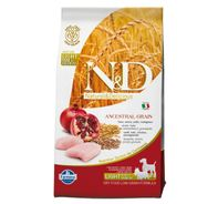 Farmina N&D Dry Dog Food Ancestral Grain Chicken & Pomegranate Adult Light Medium & Maxi Breed - 2.5 Kg