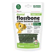 Petkin Dental Flossbone Veggie Treat Medium - 15 Counts