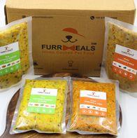 FurrMeals Large Furry Weekly Veg Plan (Fresh Cottage Cheese & Peas) - 400 gm (Pack of 14)