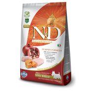 Farmina N&D Dry Dog Food Grain Free Pumpkin Chicken & Pomegranate Adult Mini Breed - 800 gm (Pack Of 10)