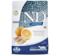 Farmina N&D Dry Cat Food Ocean Herring & Orange Adult - 300 gm