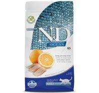 Farmina N&D Dry Cat Food Ocean Herring & Orange Adult - 1.5 Kg