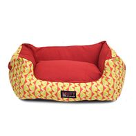 Mutt Of Course Lounger Bed For Dogs - Coral Reef - Medium