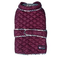 Mutt Of Course Pupberry Jacket Burgundy - Large