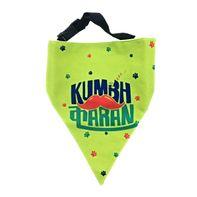 LANA Paws The Lazy Dog, Kumbhkaran Adjustable Bandana Lime Green -Small & Medium