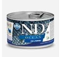 Farmina N&D Wet Dog Food Ocean Codfish & Pumpkin  Mini Adult - 140 gm (Pack Of 6)
