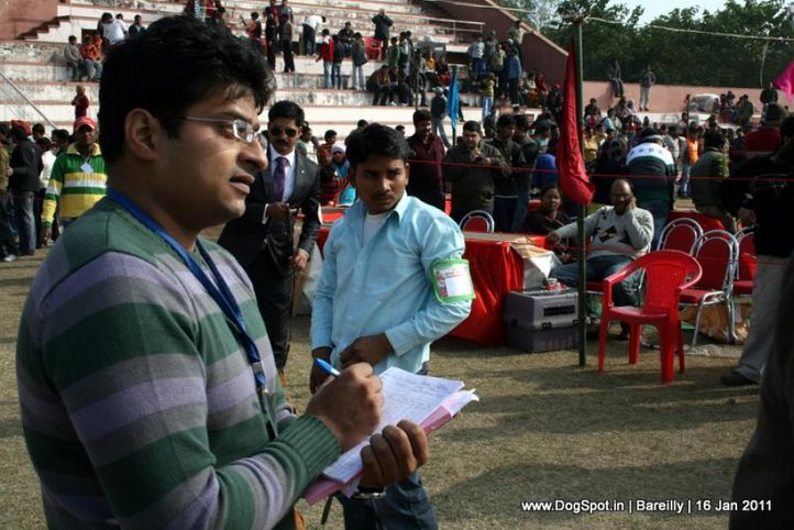 sw-14, ground,ring steward,, Bareilly Dog Show 2011, DogSpot.in