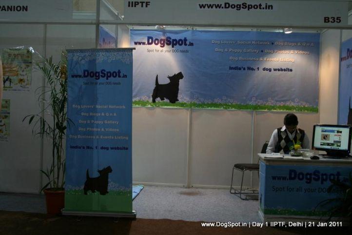 dogspot,stalls,, Day 1 IIPTF 2011, DogSpot.in