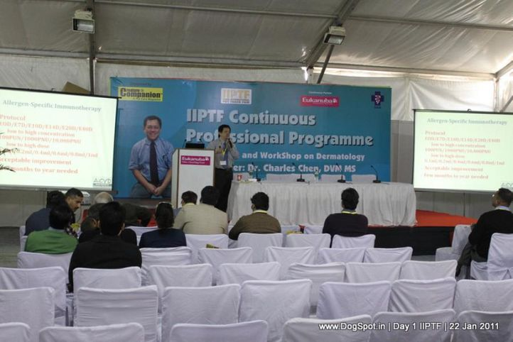 vet conference,, Day 1 IIPTF 2011, DogSpot.in